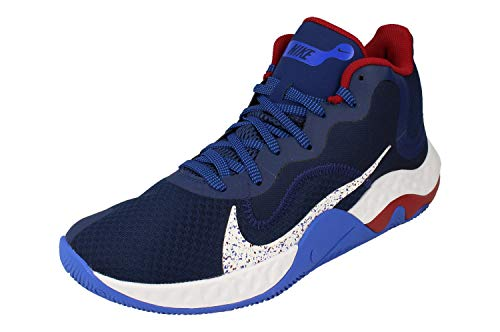 Nike Renew Elevate Hombre Basketball Trainers CK2669 Sneakers Zapatos (UK 8.5 US 9.5 EU 43, Blue Void White Racer Blue 400)