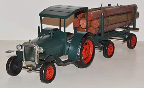 JS GartenDeko Blechtraktor Nostalgie Modellauto Oldtimer Marke Hanomag Traktor Modell R40 aus Blech L 63 cm