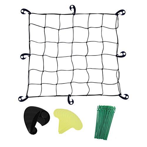 Grow Tent Net Flexible Trellis Netting 90x90cm Elastic Trellis Netting for...
