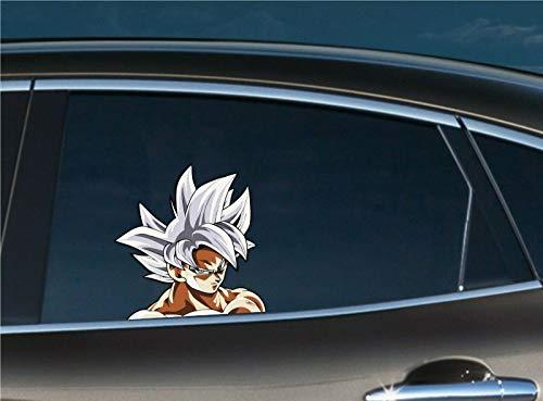Goku Ultra Instinct Peeking Peek Window Vinyl Decal Anime Sticker Ball Z