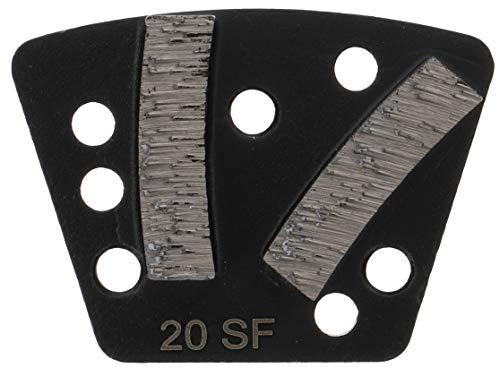 PRODIAMANT Diamant Schleifsegment für Bodenschleifer Bindung für abrasive Materialien - Aufnahme 3x M6 zum Schrauben auf die Trägerplatte