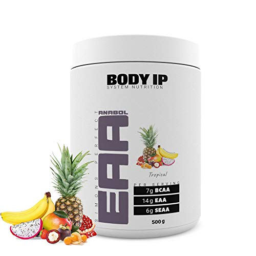 BODY IP Simons Perfect EAA | Tropical | essentielle Aminosäuren für den Muskelaufbau | enthält alle EAAs, SEAAs und BCAAs | 500g