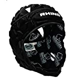 RHINO RUGBY - Forcefield Pro Scrum Cap Headguard - Lightweight and Breathable for Maximum Performance - Black...