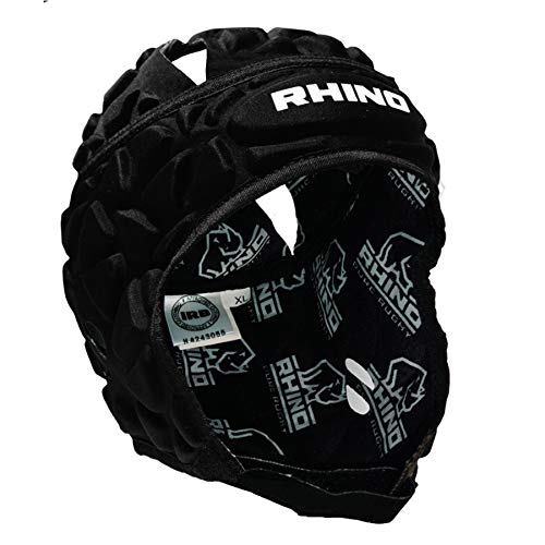 RHINO RUGBY - Forcefield Pro Scrum Cap Headguard - Lightweight and Breathable for Maximum Performance - Black - Extra Large