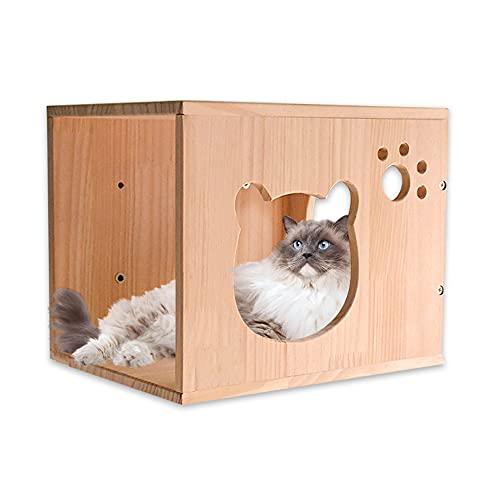 Felivecal Muebles para gatos moderno/nido para gatos montados en la pared/cama para gatos de madera