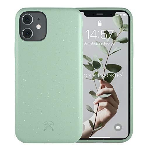 Woodcessories - Antibakterielle Bio Hülle kompatibel mit iPhone 11 Hülle Mint grün, iPhone XR Hülle Mint grün - Plastikfrei, nachhaltig