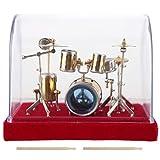 Zwindy Modelo de Tambor de Instrumentos Musicales en Miniatura, Modelo de batería de batería de Juguete con Caja de Almacenamiento, Mini Adornos artesanales decoración del hogar(18 cm)