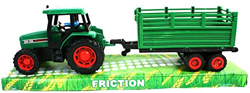 BG international - Tracteur à friction 32 cm + remorque