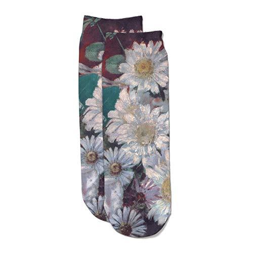 Museo del Prado Flores Calcetines, Rosa, Estándar Unisex Adulto
