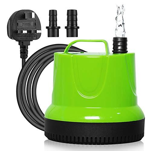Maxesla Bomba de Agua Sumergible, 350L/H 6W Bomba Agua con 2 Boquillas...