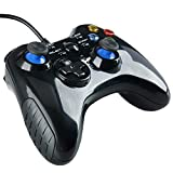 YaeCCC Wired Game Controller, Wired USB Gaming Controller Joystick with Dual-Vibration Turbo and Trigger Buttons for PC Plug and Play Gamepad Windows/Steam/Android/ PS3/ TV Box