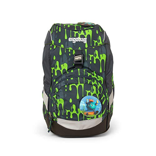 ergobag Unisex-Kinder Prime Backpack Single Rucksack Mehrfarbig (Glibbbear)