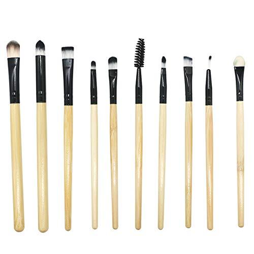 DMXY Nouveau Womens Fashion 10 Pcs Maquillage Pinceau Professionnel Visage Ombre À Paupières Eyeliner Foundation Blush,B