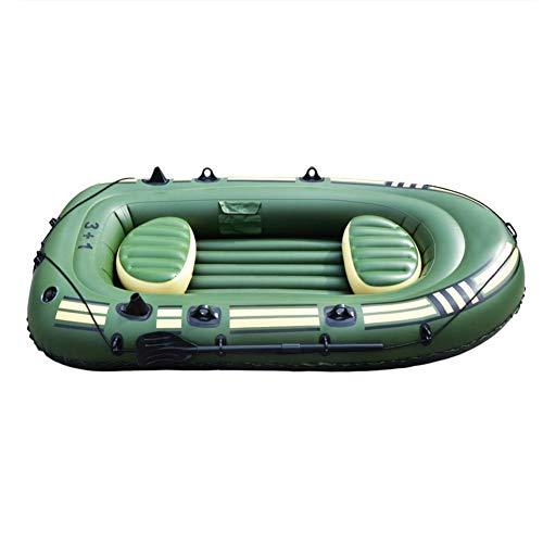 aniceday Juego de botes inflables de goma para kayak de 4 personas con remos + inflador para adultos