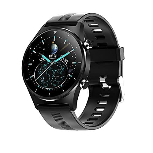 XYJ Smart Watch Hombre IP68 Impermeable Impermeable Pantalla Redonda Redonda Múltiple Modelo de Deportes Modelo Carlo Tiempo Smart Watch es Masculino, (Color: Malla Negra Negra)