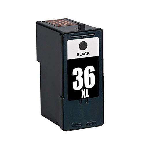 Caidi Compatible Cartuchos de Tinta de Impresora Lexmark 36 XL 37 XL para Lexmark X3650 X4650 X5650 X6650 X6675 Z2420 (1 Negro)