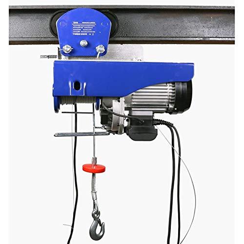 Elektrische Seilwinde mit elektrischer Laufkatze mit 500 kg/ 1000 kg Tragkraft |12 Meter Stahlseil