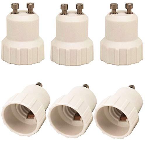 Zdcdj 6pcs GU10adattatore GU10a E14lampada base adattatore convertitore, lampada GU10a E14base adattatore per lampadine a incandescenza, a LED, alogene lampade a risparmio energetico