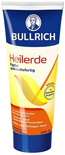 Bullrich Heilerde Paste, gebrauchsfertig, unterstützende Hilfe bei Akne und fettiger Haut, Muskel und Gelenkbeschwerden, Cellulite, 1er Pack (1 x 200 g)