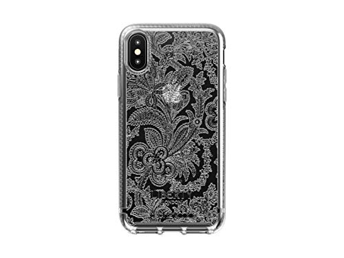 tech21 Pure Design for Apple iPhone X and XS Liberty London Phone Case with 10 ft. Drop Protection, Grosvenor Clear (T21-6587)