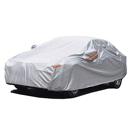 GUNHYI Outdoor Car Covers for Automobiles Waterproof All Weather, 6 Layer Heavy Duty Cover Sun uv...