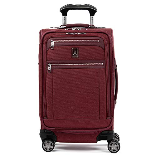 wheeled spinners Travelpro Platinum Elite Softside Expandable Spinner Wheel Luggage, Bordeaux, Carry-On 21-Inch