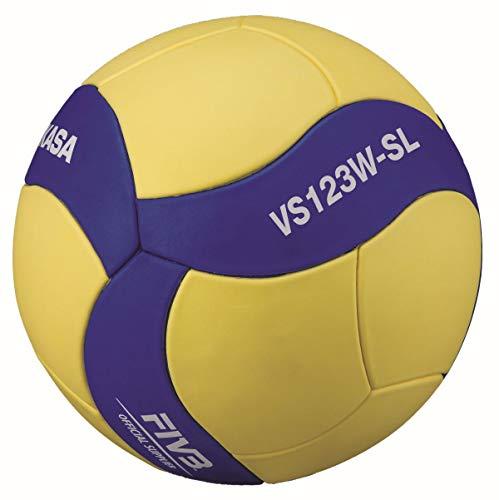 MIKASA Unisex– Erwachsene VS123W-SL Volleyball, blau, 5