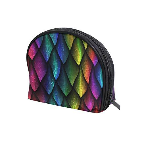 Bunte geometrische Drachen-Waage Kosmetiktasche Reise Make-up Tasche Reißverschluss für Frauen Mädchen Kosmetiktasche Personalisierte Aufbewahrung Kulturbeutel Canvas Kosmetiktasche