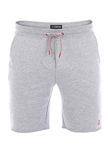 riverso Herren Sweat Short RIVMax Kurze Sweatshorts Bermuda Sommer Sport Shorts Baumwolle Grau 3XL, Größe:3XL, Farbe:Pastel Grey (23100)