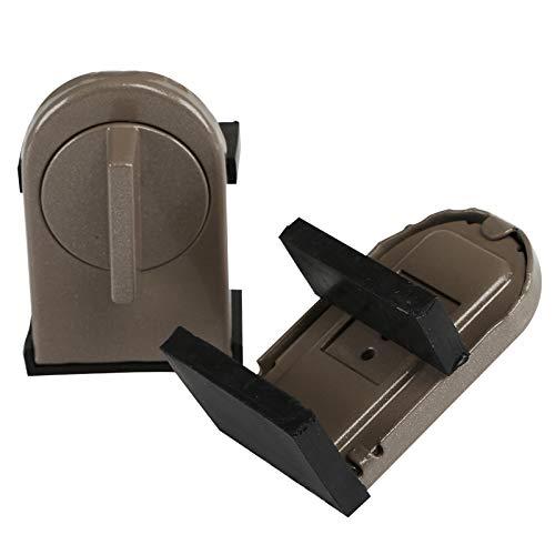 Kesote 2 Bloques de Metal para Ventana Ajustable Bloques de Seguridad de Ventana Cerradura para Seguridad Infantil