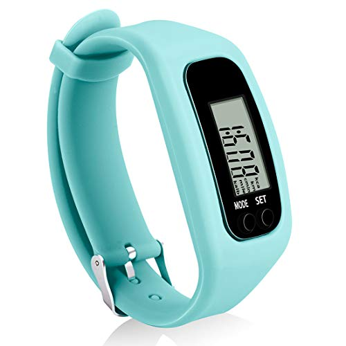Bomxy Fitness Tracker Watch, Operation Walking Running Pedometer with Calorie Burning and Steps Counting (ff66-Mint)