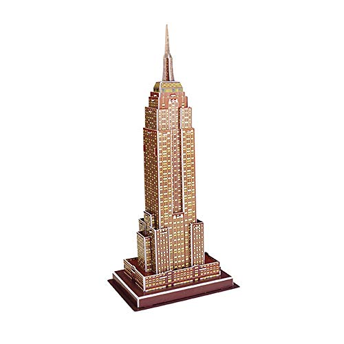 3D Stereo Puzzle Mini-Welt Architekturmodell Puzzle Papier Puzzle für Kinder Notre Dame In Paris (Multicolor Empire State Building)
