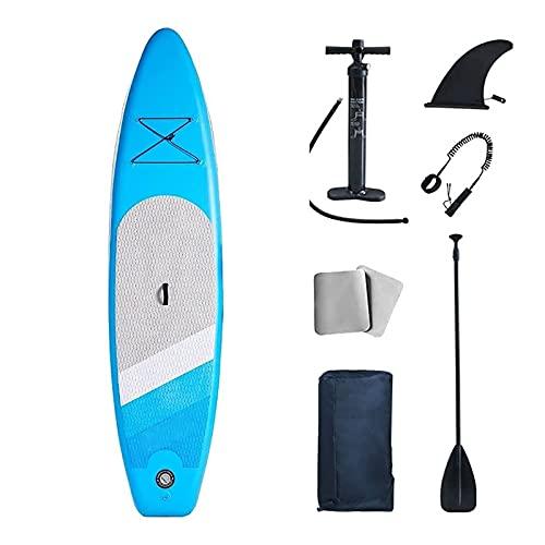 FLBTY Stand Up Paddle Board Inflable, Mochila para Accesorios de Paddleboard Sup, Tabla de Paddle Surf de 10'6 × 32'× 6', Control de Surf de Remo con Aleta Inferior, Tabla de Stand up Paddle Board