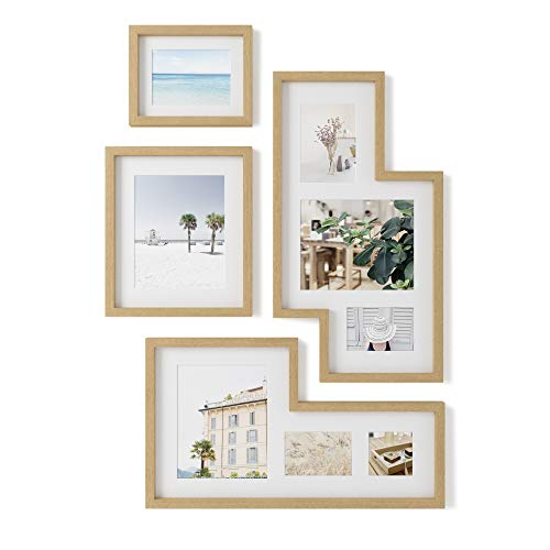 Umbra Mingle Gallery Collage Picture Frame Set, Natural