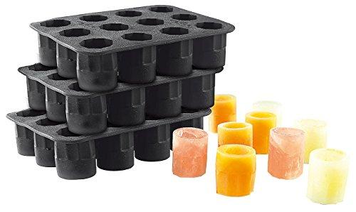 infactory Eiswürfelform: Silikon-Formen 3er-Set für 36 Schnapsgläser 2 cl aus Eis (Eiswürfelform für Sidgläser)