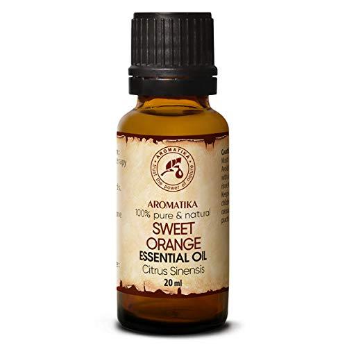 Huile Essentielle Orange Douce 20ml - Citrus Sinensis - Brésil - 100% Pur pour un Bon Sommeil - Beauté - Corps - Aromathérapie - Relaxation - SPA - Lampe Parfumée - Arôme de Chambre