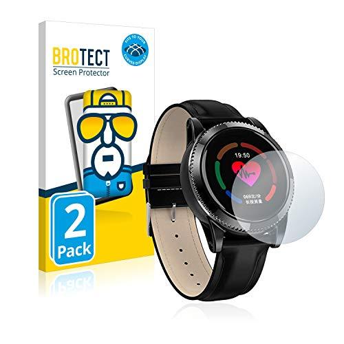 BROTECT Full-Cover Schutzfolie kompatibel mit Lidofigo Smartwatch Smart Armband (2 Stück) - Full-Screen Displayschutz-Folie, 3D Curved, Kristall-Klar