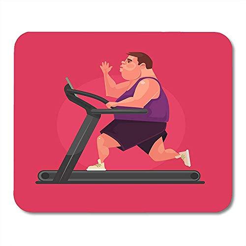 Muis Pads Runner Sport Fat Man Karakter Hardlopen Snel Op Loopband Plat Overgewicht Obesitas Muis Pad Voor Notebooks Muismatten