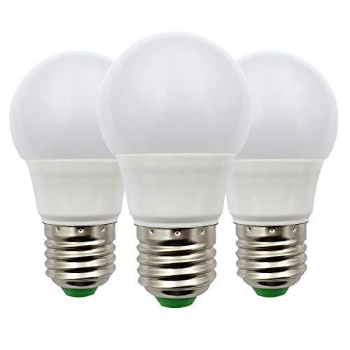 E27 Led-gloeilamp 12 V AC/DC 3 W (A50 30 W halogeenlampen) laagspanning Edison Screw in gloeilampen warmwit voor Off Grid Solar verlichting RV Boot binnenverlichting, 3 stuks [meerweg]