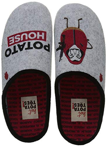 HOT POTATOES Chievres, Pantuflas Mujer, Color, 40 EU
