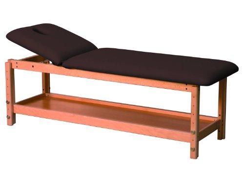 Stationäre Holz-Massageliege, Holz, 182 x 62 cm, 2 Zonen