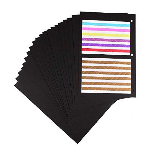 Minlna Scrapbooking Papier 26x18cm, Fotoalbum Kraftpapier Refill Seiten Nachfüllseiten für Scrapbook Album 20 Blättern