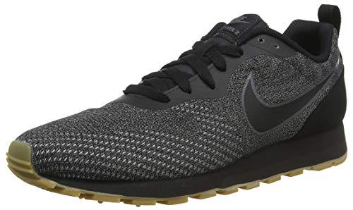 Nike Damen Sneaker Mid Runner 2 Eng Mesh Sneakers, Schwarz (Black/Black/Dark Grey 001), 39 EU