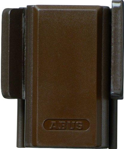 ABUS Fenster-Zusatzsicherung SW20 - Fensterschloss zur Montage ohne Anbohren des Fensterflügels und Rahmen - Sicherheitslevel 4 - 10452 - braun