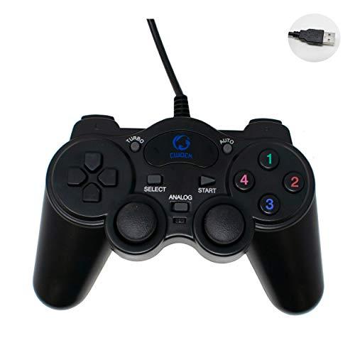 I-KIEZEN GEMEENSCHAPPELIJKE Gamepad Controller | Force Vibration | USB Wired Powered Pad Voor PC DVD (Windows 7/8/10) Computer of Laptop