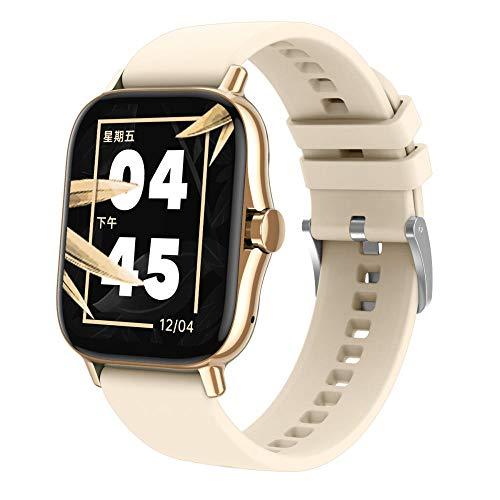 Yumanluo Reloj Inteligente Mujer Hombre,Reloj Inteligente de Pantalla Dividida, Pulsera Deportiva de Control de la Salud-Dorada,Pulsera de Actividad Inteligente Reloj Deportivo