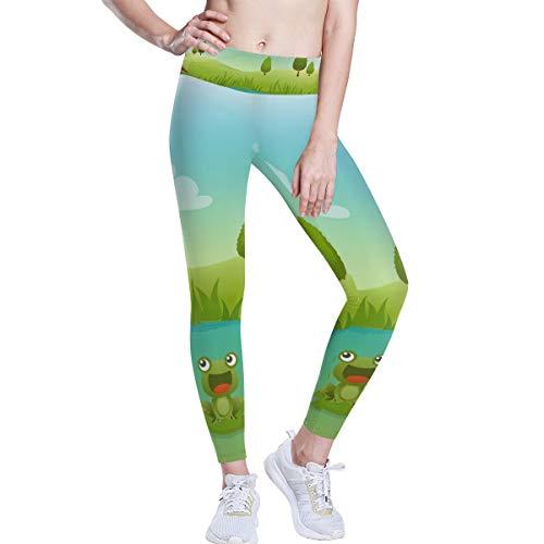FANTAZIO Rana en pantano cintura alta, pantalones de yoga para control...
