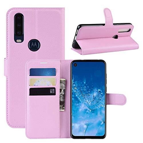 Capa Capinha Carteira 360 Para Motorola Moto One Action Tela De 6.3Polegadas Case Couro Flip Wallet - Danet (Rosa)
