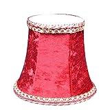 XJF Pantalla de lámpara de terciopelo pequeña para clips en bombillas de vela en candelabros y luces de pared