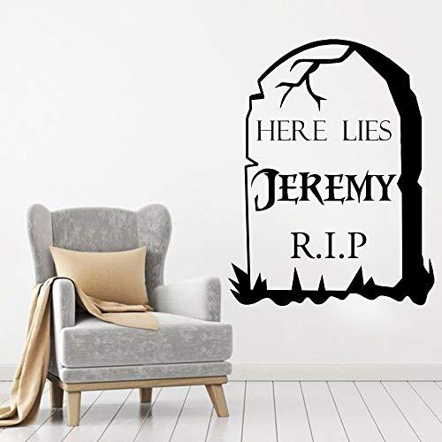 hetingyue grafsteen Halloween vinyl gepersonaliseerde muur kunststicker muur decoratie woonkamer hal